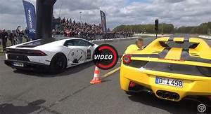 Ferrari Vs Lamborghini : lamborghini huracan vs ferrari 458 spider drag race has a clear winner ~ Medecine-chirurgie-esthetiques.com Avis de Voitures