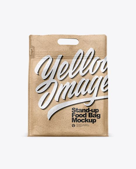 This mockup is available for purchase only on yellow images. Download Kraft Paper Stand-up Food Bag Mockup Object ...