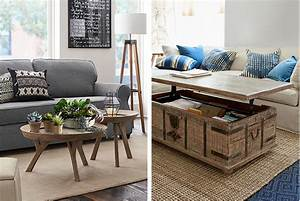 4 unconventional coffee table ideas pottery barn With unconventional coffee tables
