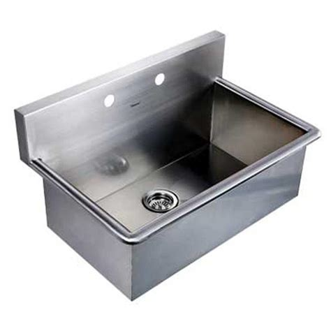 stainless wall mount sink noah 39 s collection dual mount stainless steel 31 in 2 hole