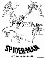 Spider Verse Coloring Pages Into Printable Spiderman Morales Miles Gwen Pdf Sheet Info Drawing Activity sketch template
