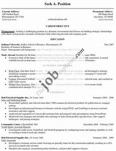 Doc Job Resume Format Samples Template