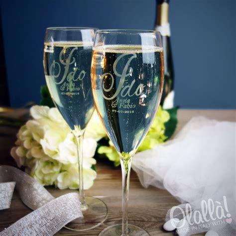 bicchieri da personalizzati coppia di bicchieri flute personalizzati con incisione quot i