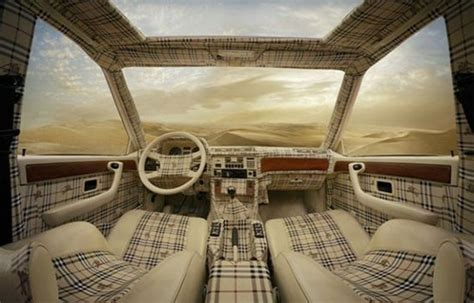 louis vuitton  burberry car interiors