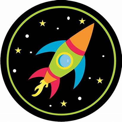 Space Birthday Party Printable Invitations Outer Rocket