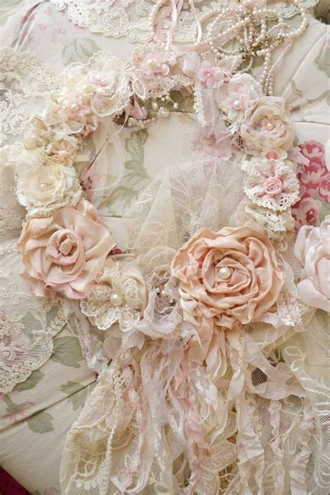 shabby chic fabric wreath shabby chic wreath beautiful shabby chic wreath pinterest shabby chic wreath shabby and
