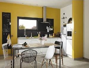 peinture cuisine jaune avec meubles blanc leroy merlin With couleur papier peint tendance 9 peinture relooker ses meubles pour pas cher