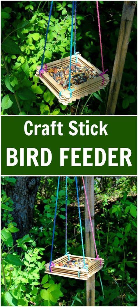 craft stick bird feeder  inexpensive option  replacing