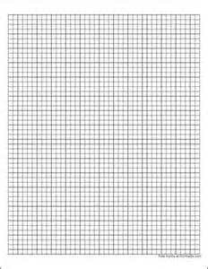 Graph Paper Template Free Download