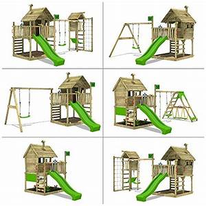 Sandkasten Kunststoff Xxl : fatmoose spielhaus auf podest wackyworld mega xxl spielturm kletterturm mit rutsche holzdach ~ Orissabook.com Haus und Dekorationen