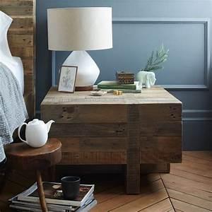 emmersontm reclaimed wood block side table west elm With west elm emmerson reclaimed wood coffee table