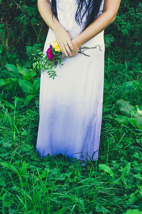 diy wedding dress ombre ombre dress tutorial wedding diy dye bespoke bride