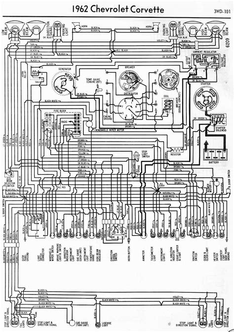 To A 38 Chevy Headlight Switch Wire Diagram by Wiring Diagrams Of 1962 Chevrolet Corvette 60401
