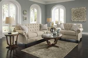 Ashley signature design kieran 4400038 traditional sofa for Stratford home pillows living room furniture