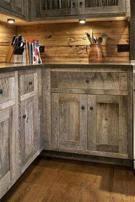 kitchen cabinets made from barn wood cuisine rustique 23 id 233 es inspirations photos 9164