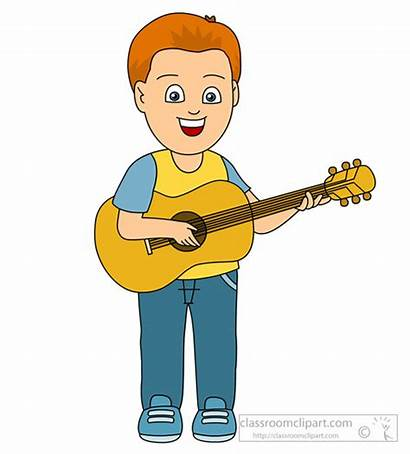 Guitar Playing Clipart Boy Instruments Musical Play