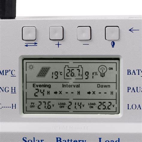 Lcd Mppt Solar Panel Regulator Charge