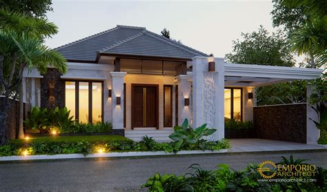 desain rumah villa bali 1 lantai bapak rusli di padang
