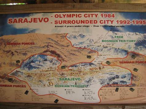 si鑒e de sarajevo foto de sarajevo war tunnel sarajevo map of siege at tunnel museum tripadvisor