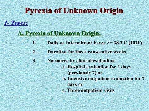 Pyrexia Of Unknown Origin Puo