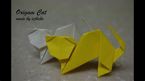 origami cat animal video youtube