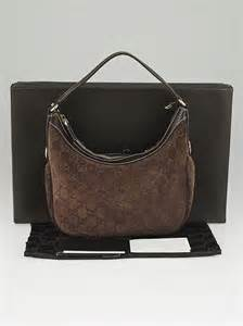 gucci brown guccissima suede small hobo bag yoogis closet