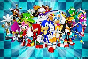 Sonic The Hedgehog And Friends Wallpaper by ...
