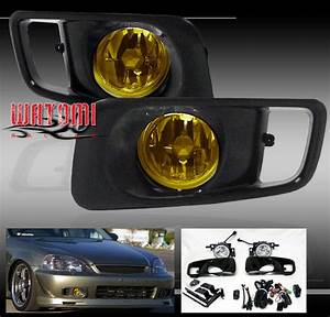 1999 2000 Honda Civic Ek Si Fog Lights Lamp Jdm Yellow