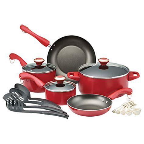 paula deen  piece  stick cookware sets big lots