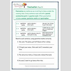 Grade 3 Grammar Topic 30 Punctuation Worksheets  Lets Share Knowledge