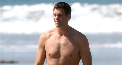 tom brady sunbathes in his birthday suit alongside