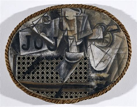 Still With Chair Caning Wiki by Pablo Picasso Still With Chair Caning 1912