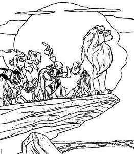 Lion King Characters Coloring Page