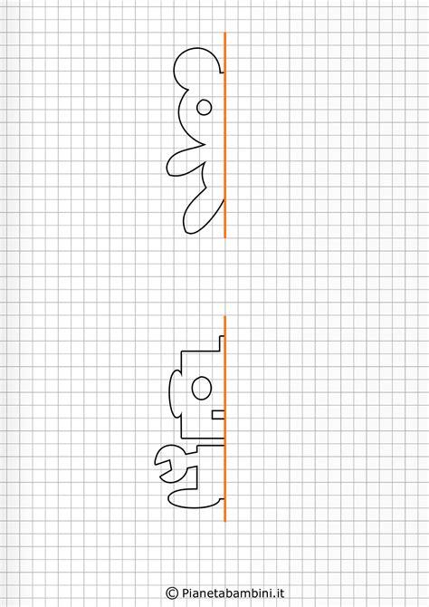 giochi  simmetria  bambini disegni da completare