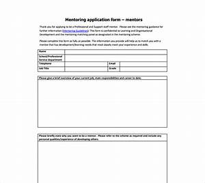 11 mentor application form templates free word pdf With mentoring application templates