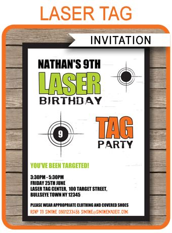 laser tag invitation template laser tag invitations