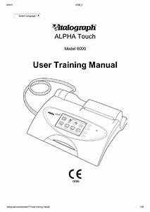 Alpha Touch Model 6000 User Training Manual Issue 5 Pdf