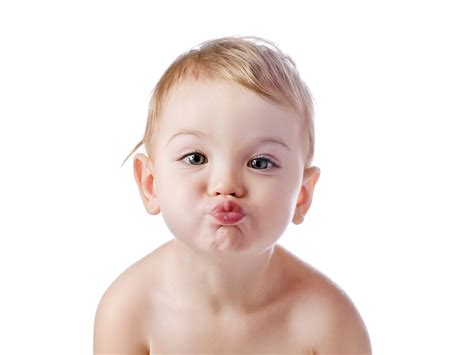 Flying Kiss Given By Cute Baby Photo Download Hd Wallpapers