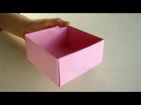 geschenkbox selber basteln anleitung schachtel falten kisten basteln mit papier geschenkbox selber machen