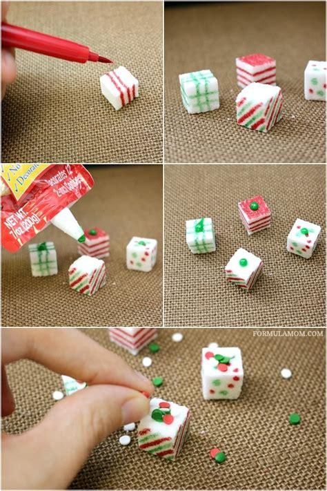 Homemade Christmas Crafts Sugar Cube Presents #sponsored #diy