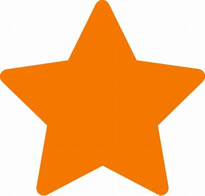 Star Clip Orange Clipart Clker Vector Krk