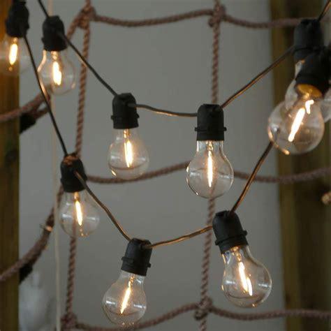 lichterkette mit  filament glas gluehbirnen led zur