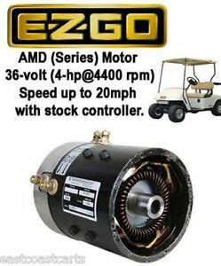 Ezgo 36 Volt Motor Wiring by Ezgo 36 Volt Series Golf Cart High Speed Motor 20mph With