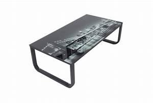 Plateau De Table En Verre : table basse avec plateau verre eastriver design sur sofactory ~ Teatrodelosmanantiales.com Idées de Décoration