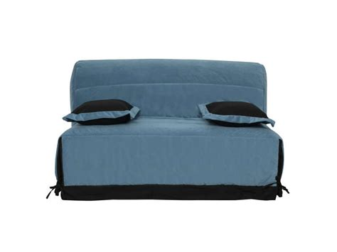 housse de canape bz conforama housse pour bz premium 160 cm coloris bleu canard vente de housse de banquette conforama