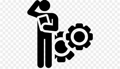 Problem Solving Symbol Computer Working Icons Illustration