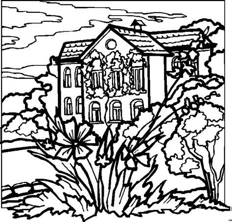 landscape coloring pages getcoloringpagescom