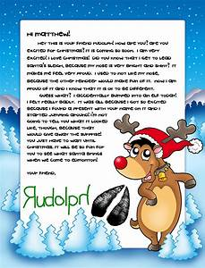 here we go again ready personalized letter package from With personalized letter from santa claus from rudolph express
