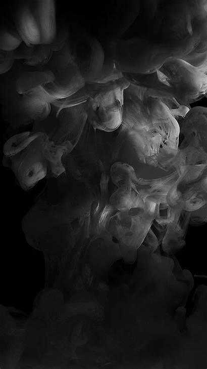 Smoke Dark Iphone Fog Abstract Illust Bw