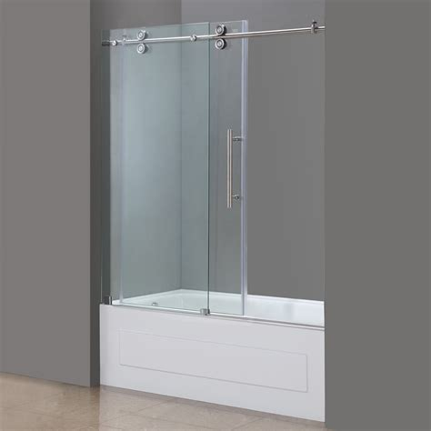 bathtub sliding doors aston langham 60 quot x 60 quot single sliding completely